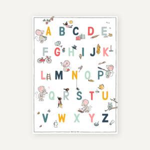letterposter onderwijs hoofdletters