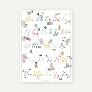 letterposter schrijfletters onderwijs